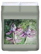 Echinacea Cone Flower Duvet Cover