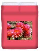 Echinopsis Flowers In Bloom II Duvet Cover