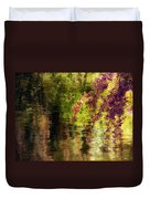 Echoes Of Monet - Cherry Blossoms Over A Pond - Brooklyn Botanic Garden Duvet Cover