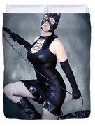 Eclipse Of The Black Cat Duvet Cover
