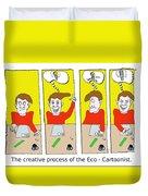 Eco Cartoonist Duvet Cover
