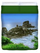 Ecola State Park Oregon 2 Duvet Cover by Shiela Kowing