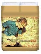 Ed Sheeran And Guitar Duvet Cover