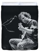 Eddie Vedder Playing Live Duvet Cover