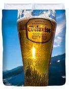 Edelweiss Beer In Kirchberg Austria Duvet Cover