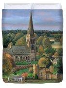 Edensor - Chatsworth Park - Derbyshire Duvet Cover