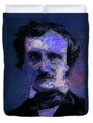 Edgar Allan Poe, Artsy 1 Duvet Cover