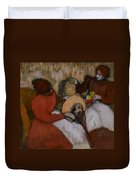 Edgar Degas - The Milliners - 1898 Duvet Cover