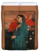 Edgar Degas - Young Woman With Ibis - 1860-1862 Duvet Cover