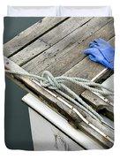 Edgartown Fishing Boat Duvet Cover