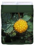 Edible Yellow Salmonberry Rubus Duvet Cover