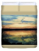 Edinboro Lake Nocturne No.3 Duvet Cover