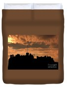 Edinburgh Castle Silhouette  Duvet Cover