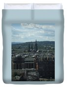Edinburgh Castle View #9 Duvet Cover