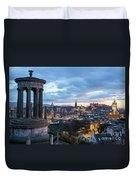 Edinburgh From Calton Hill Duvet Cover