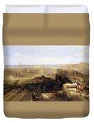 Edinburgh From The Castle Duvet Cover