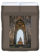 Edinburgh Sir Walter Scott Monument Duvet Cover