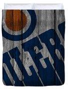 Edmonton Oilers Wood Fence Duvet Cover