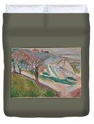 Edvard Munch , Landscape, Kragero Duvet Cover