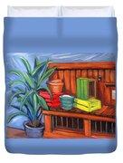 Edwards Nursery Potting Bench Duvet Cover