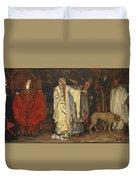 Edwin Austin Abbey 1852-1911 King Lear, Cordelias Farewell Duvet Cover