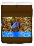 Eel In A Crack Between Two Anemone Worlds In Monterey Aquarium-california Duvet Cover