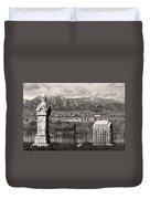 Eerie Cemetery Duvet Cover by James BO  Insogna