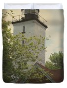 Erie Lighthouse 1872 Duvet Cover