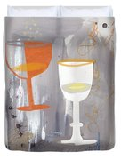 Efervescent Champagne Cups Duvet Cover