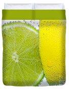 Effervescent Lime And Lemon By Kaye Menner Duvet Cover