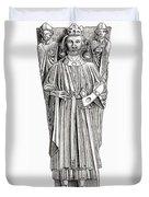 Effigy Of King John On His Tomb In Duvet Cover