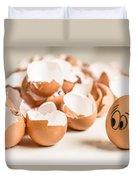 Eggs Have Feelings Too Duvet Cover