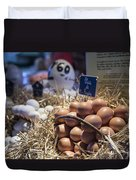 Eggsactly What You Are Looking For - La Bouqueria - Barcelona Spain Duvet Cover