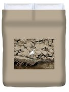 Egret Fishing Duvet Cover