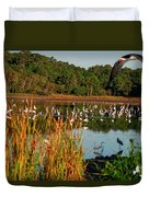Egret Lake Duvet Cover