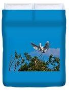 Egret Landing Duvet Cover