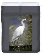 Egret Or Crane Duvet Cover