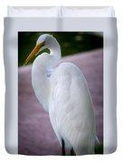 Egret Profile Duvet Cover