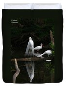 Egret Reflection Duvet Cover