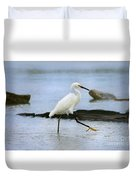 Egret Step Duvet Cover