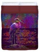 Egret White Bird Beach Wildlife  Duvet Cover