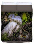 Egrets - 3399 Duvet Cover