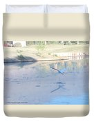 Egrets Reflection Duvet Cover