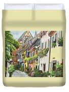 Eguisheim In Bloom Duvet Cover
