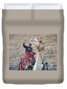 Egypt - Boy With A Camel Duvet Cover