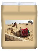 Egypt - Camel Getting Ready For The Ride Duvet Cover