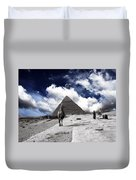 Egypt - Clouds Over Pyramid Duvet Cover