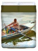 Egyptian Fisherman Duvet Cover