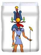 Egyptian God - Khensu Duvet Cover