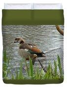 Egyptian Goose Climbing Fence Duvet Cover